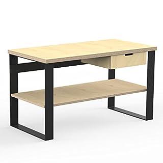 AUPROTEC Profi Design Werkbank 1300 x 750 x 850 mm Arbeitsplatte Multiplex 40mm mit 1 Schublade und Ablage Holz Werkbankplatte Multiplexplatte Industriequalität Massiv Arbeitstisch