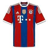 adidas Kinder Trikot FC Bayern München Home 2014 mit Badge, Mehfarbig, 164, S86766
