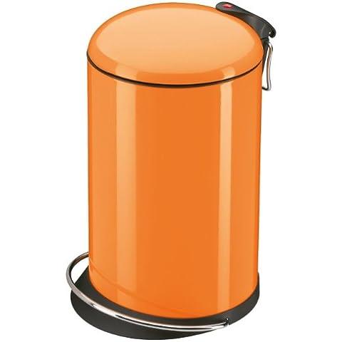 Hailo 0516-580 Trento TOPdesign - Cubo de la basura con pedal (16 litros), color naranja