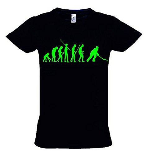 EISHOCKEY Evolution Kinder T-Shirt schwarz-green, Gr.152cm