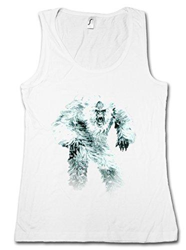 Yeti-tank (Urban Backwoods Yeti I Damen Tank Top – Monster Bigfoot Creature Sasquatch Nepal Snowman Ape Affe Himalaya Big Foot Sabretooth Größen S – XL)