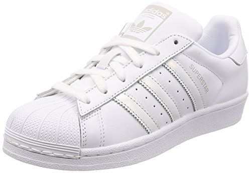 adidas Damen Superstar W Gymnastikschuhe, Weiß FTWR White/Grey One F17, 39 1/3 EU -
