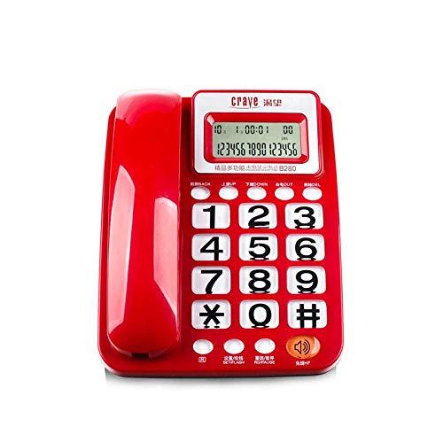 Office Home Festnetz Blacklist Voice Bericht Wired Telefon Hotel Wandbehang Festnetz (Farbe : Red)