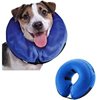 Emwel Pet Inflatable Collar for Large Dogs, Comfy Pet Collar Cone for Recovery, Inflatable Basic Dog Collars, L
