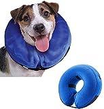 Emwel aufblasbares Halsband für große Hunde, Bequemer Haustier-Kragen für Genesung, aufblasbares einfaches Hunde-Halsband, L