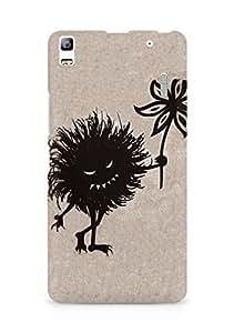 Amez designer printed 3d premium high quality back case cover for Lenovo A7000 (Evil bug gives flower)