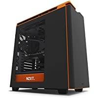 NZXT H440 CA-H442W-M0 Steel Mid Tower Case. Next Generation 5.25-less Design. Include 4 x 2nd Gen FNv2 Fans, High-End WC support, USB3.0, PWM Fan Hub Black/Orange