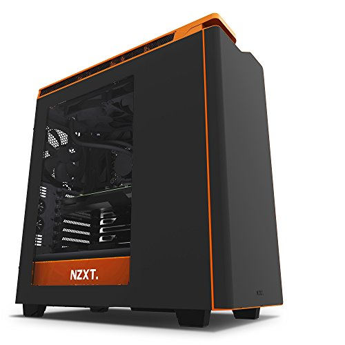 NZXT CA-H442W-M0 H440 ATX Mid Tower Hülle Matt Schwarz/Orange