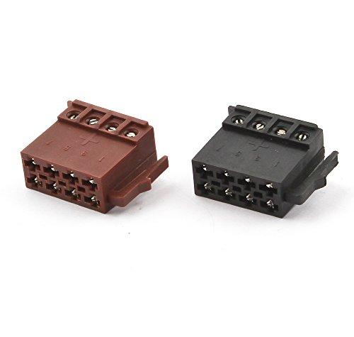 Watermark WM-0031S1 Autoradio ISO DIN Stecker für Strom Lautsprecher schraubbar braun schwarz