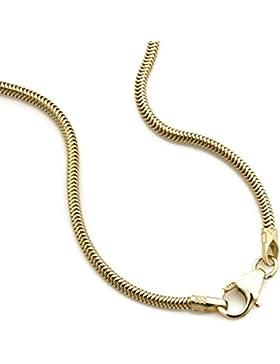 Schlangenkette 333 / 8 Karat Gelbgold Flexibel Breite 1,40mm Goldkette Halskette Collier NEU