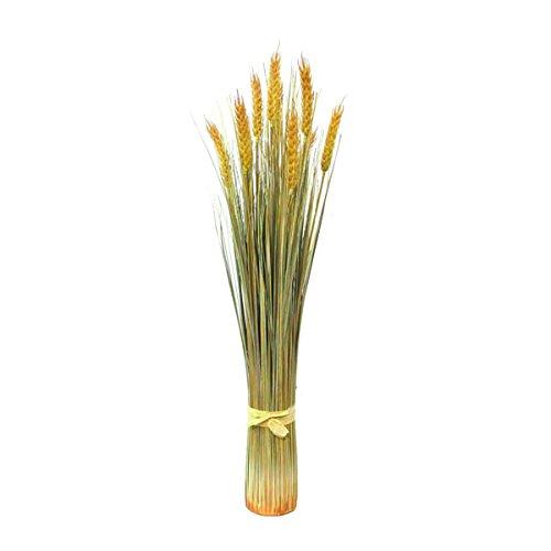 Set 2 x di Grano decorativo di tarda estate con 10 spighe, 60 cm - 2 pezzi di Pianta artificiale in vaso / Pianta ornamentale - artplants