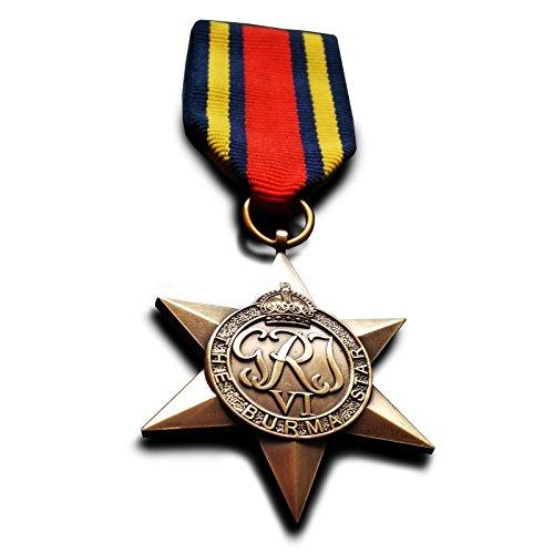 Britische Militär-Medaille aus dem 2. Weltkrieg mit Birma-Stern, Nachahmung