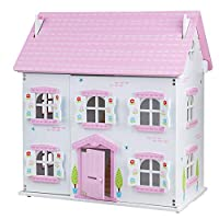 Bigjigs Toys Butterfly Cottage - Large Wooden Unfurnished Doll House