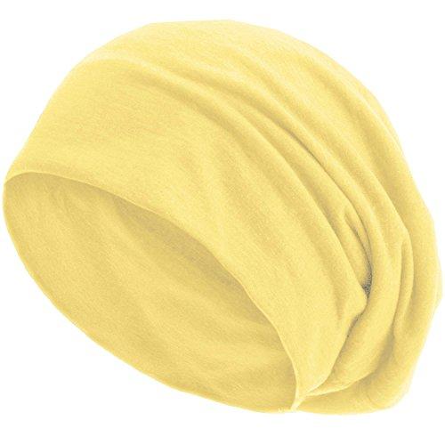 style3 Gorro Slouch Beanie de Fino Tejido de Punto Transpirable y Ligero, Gorro Unisex One Size