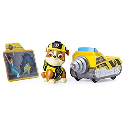 Paw Patrol Mission Paw - Rubble's Mini Miner - Figure and Vehicle de Spin Master