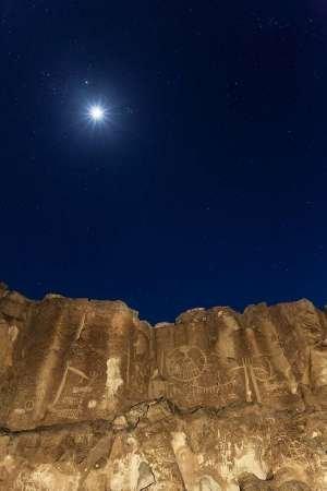 Feelingathome-STAMPA-ARTISTICA_x_cornice-CA,-Chalfant-Canyon-Petroglyph-sulla-parete-di-roccia-cm84x54-arredo-POSTER-fineart