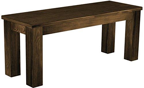 Brasilmöbel Sitzbank 'Rio Classico' 110 cm, Pinie Massivholz, Farbton Eiche antik