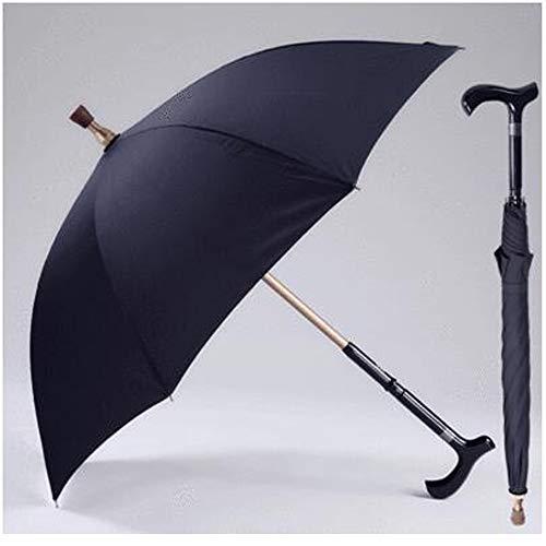 Zhen Lin Multi-Función Muletas Paraguas Viejo Hombre
