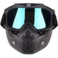 H0_V Máscara táctica,Casco Motocross Gafas Máscara Desmontable para Nerf,CS,Airsoft - Colorido