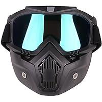 YAHAMA Táctica Máscara Protección Máscara para niños–Máscara protectora facial con protección gafas para Nerf, color 5, tamaño 5 x 18 x 18,5cm