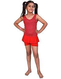 24349cbb7a THE MORNING PLAY Swimming Costume for Kids Girls Baby Girls Ferrari RED Printed  Printed Girls Swim