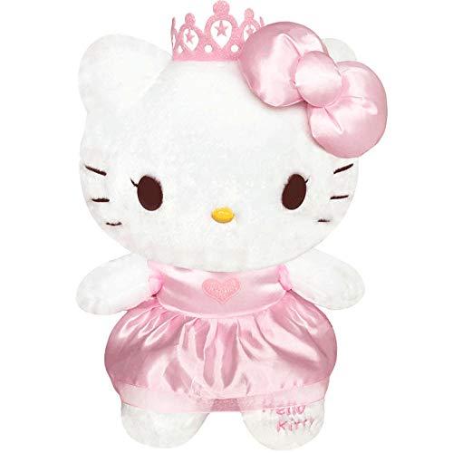yfkgh Hello Kitty Plüschtier, dunstige Kitty Katze Figur, Hello Kitty Puppe, Kindergeburtstagsgeschenk@Prinzessin Kitty_3 # ungefähr 37 cm (Plüsch Kitty Puppe Spielzeug Hello)