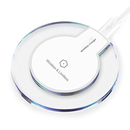 Xshuai Clear Qi Wireless Charger Ladeschale für iPhone 8 / iPhone 8 Plus für Samsung Galaxy Note 8 für Samsung S6 S6 Edge S6 Rand Plus S7 S7 Rand Note 5 S8 S8 Plus und alle Smartphone Qi-fähigen (Weiß)
