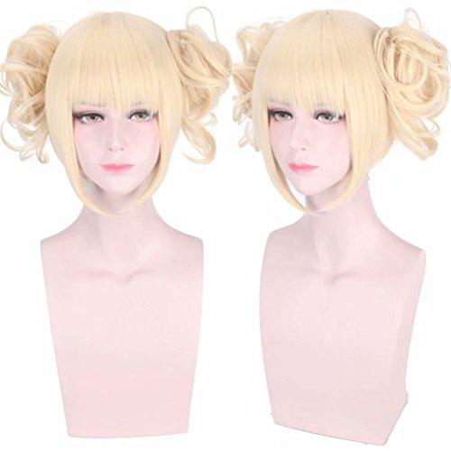 COSPLAZA Anime Convention Cosplayer Fans Cosplay Perücke Schöne Blonde Mädchen Kostüm Rolle Spielen Perücken (Toga Kostüm Mädchen)