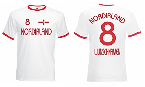 world-of-shirt Herren Retro T-Shirt Nordirland Trikot EM 2016|weiss-L