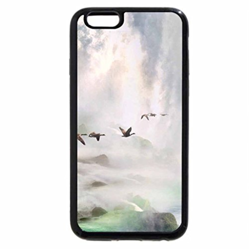 iPhone 6S / iPhone 6 Case (Black) Geese flying through a Waterfall