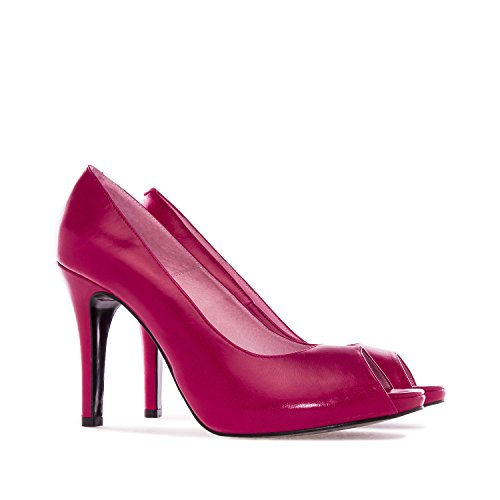 Andres Machado.Valeria.Escarpins en Cuir. Petites et Grandes Pointures.32/35- 42/45. Femmes. Rouge