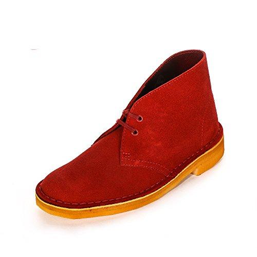 Clarks Originals Damen Desert Boots Rot (Cherry Suede)