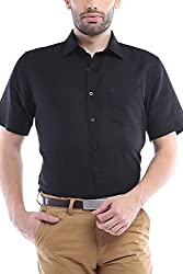 Allen Solly Mens Formal Shirt (8907308862052_AMSH1G01713_46_Black with White)