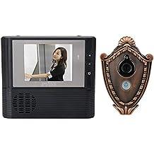 "BW 2.8 ""TFT Pantalla 3X Zoom Digital Home Puerta Bell Peephole Visor Gato Ojo Timbre De La Puerta Seguridad Vedio Sistema (Negro)"