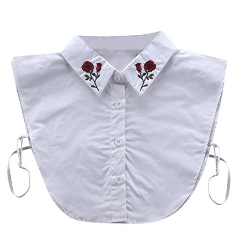 Kanpola Damen Kragen Puppe Abnehmbare Hälfte Top Shirt Bluse