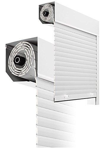 Kit Completo de Persiana de aluminio de 45º de 1400 mm ancho x 1400 mm de alto con recogedor (BLANCO RAL 9010)