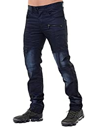 Eto Mens Jeans Regular Fit Distress Denim Designer Fashion Stylish Pants