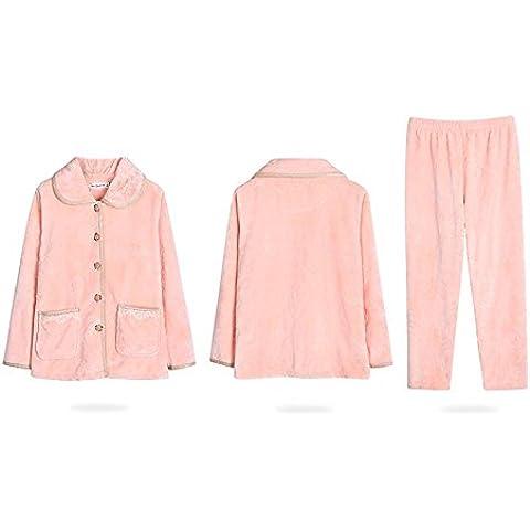 DSHUY Signora in autunno e inverno più dimensione imbottito pigiama