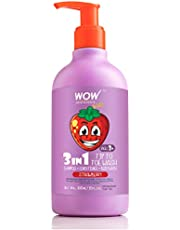 WOW Kids Tip to Toe Wash - Shampoo - Conditioner - Body Wash - No Sulphates & Parabens - Strawberry, 300 ml