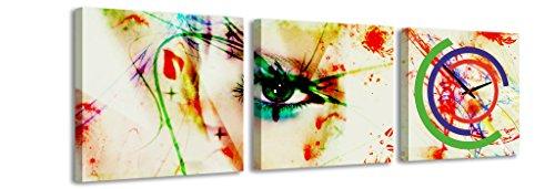 quadrato-orologio-de-parete-occhio-segreto-donna-vernice-verniciatura-simboli-macchie-colori-colorat