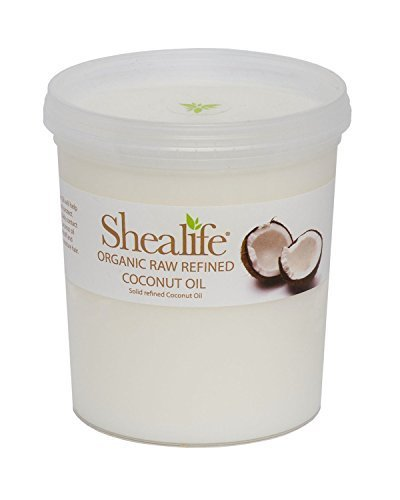 by SHEA LIFE Organic Refined Coconut Oil, for Moisturing & Treating Dry Skin & Conditioning Damaged Hair Supplied Direct by Shea Life Skincare 1 Kg Tub