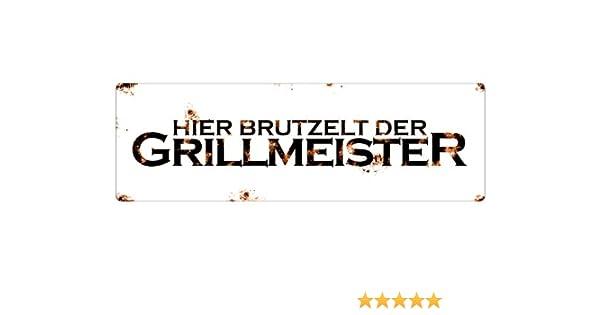 METALLSCHILD Shabby Retro Blechschild GRILLPLATZ grillen Dekoschild Geschenk