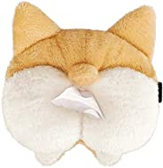 Fancer Tissue Box Cover Soft Adorable Corgi Butt Shaped Creative Storage Bag Hanging Pouch Tissue Box Wrapper