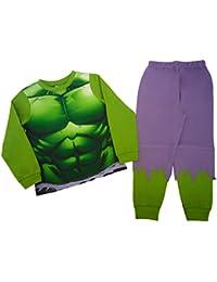 Pijama del increíble Hulk para niños desde 2 a 3 años hasta 7 a 8 años