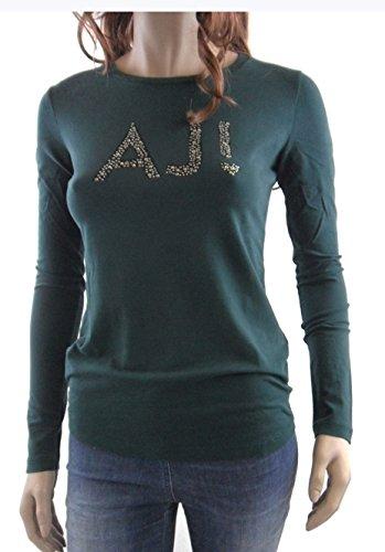 T-shirt donna Armani Jeans, girocollo manica lunga art:U5H37JL Verde