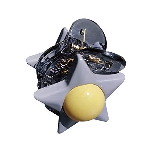 Kuangkk Mini-Haarklammer, für Studenten/Mädchen, mit 5 Spitzen, aus Kunststoff