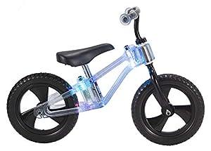 "Toim- Bicicleta 12"" SIN Pedales Luces LED Rueda EVA Negra MAS DE 3 AÑOS, (7002)"