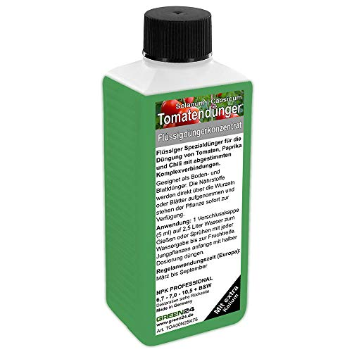 GREEN24 Tomatendünger Paprika Dünger Chilli düngen, Premium Flüssigdünger aus der Profi Linie
