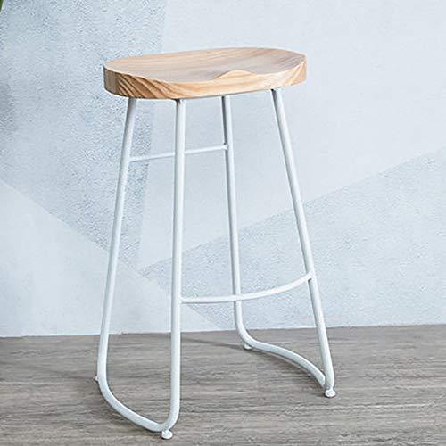 JHSHENGSHI Barhocker,Hochhocker Modern Dining Stuhl Metall Draht Freizeit Café Tisch Stuhl mit Rückenlehne, B -