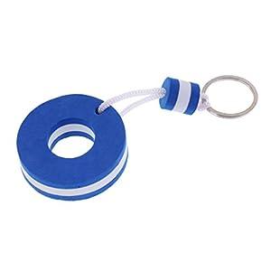 MagiDeal Yachting Barca Galleggiante Portachiavi Key Ring Keyring - Forma Boa Azzurro